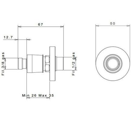 """InGENIUS IG100R-3/8G соединение без фильтра 3/8"""", фото 2"""