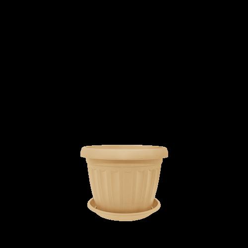 Горшок цветочный Терра 14х11 см бежевый 0,8 л , Украина