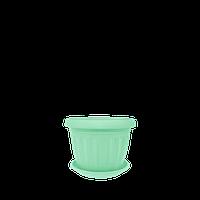 Горшок цветочный Терра 20х15 см салатовый 2,8 л , Украина