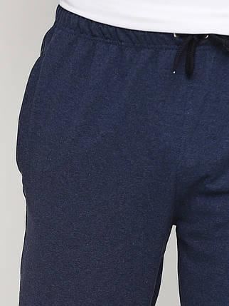 Штани чоловічі, темно синій меланж, фото 2