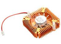 Вентилятор с радиатором 55мм 12В 2пин кулер для видеокарты (z04185)