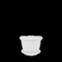 Горшок цветочный Терра 30х23 см белый 9,5 л, Украина