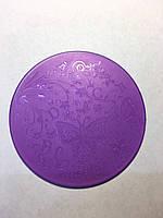 Трафарет пластик фиолетовый круглый