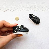 Обувь для кукол Туфли с Ремешком Округлые 5*2.8 см ЧЕРНЫЕ