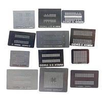 Набор из 12 BGA трафаретов для памяти DDR DDR2 DDR3 (z01606)
