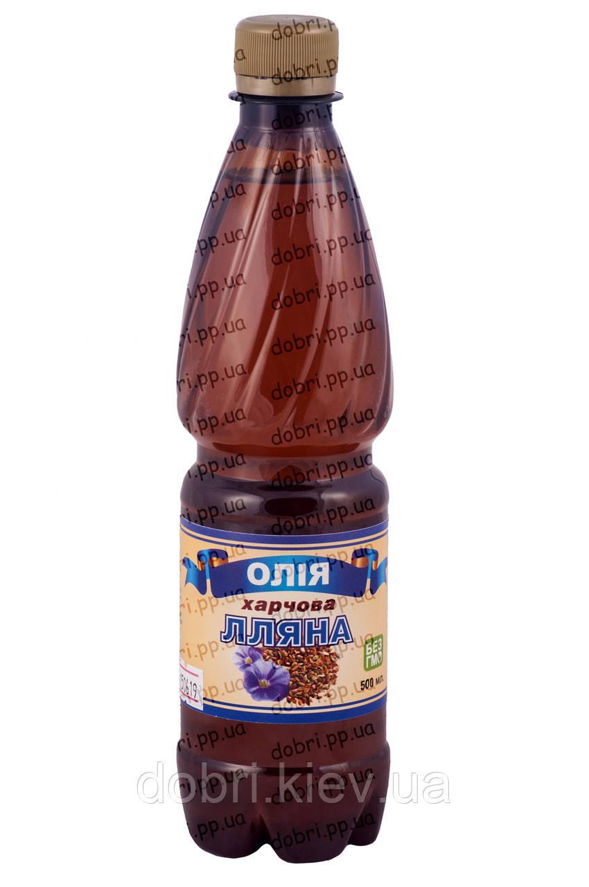 Льняное масло салатное пластик
