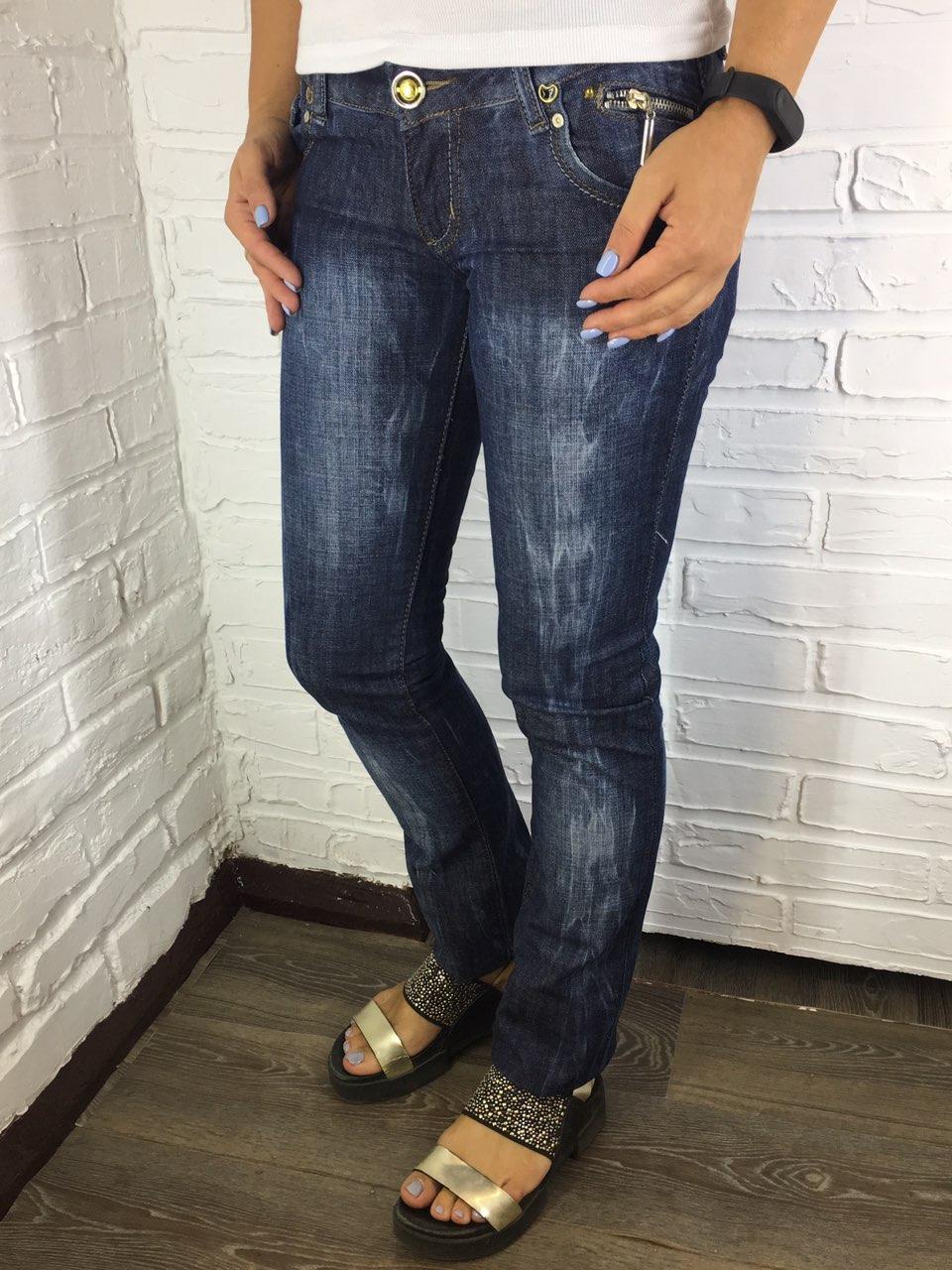 Джинсы женские  B6010 синие 26