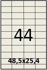 Самоклеящаяся этикетка в листах А4 - 44 шт (48,5х25,4)