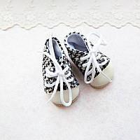 Обувь для Кукол Кеды на Шнуровке 7*3.5 см ГУСИНАЯ ЛАПКА