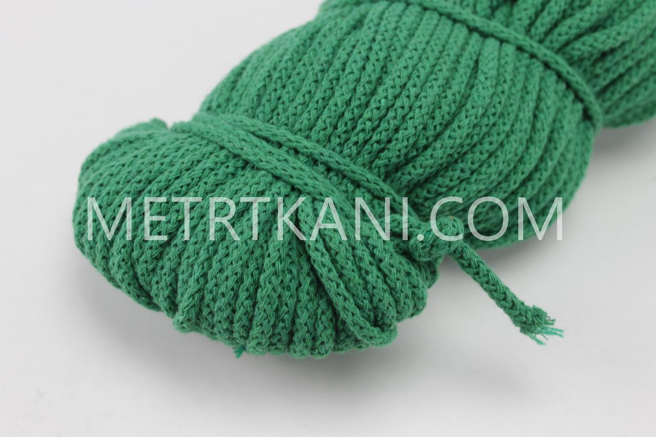 Шнур 100 хлопок, цвет зеленый  5 мм № Ш-21