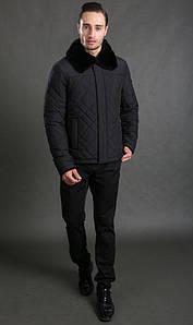 Мужская стеганая зимняя куртка черная Hermzi 48-58р
