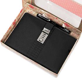 Ежедневник органайзер блокнот с кодовым замком Черный Ручка в подарок (AR003)