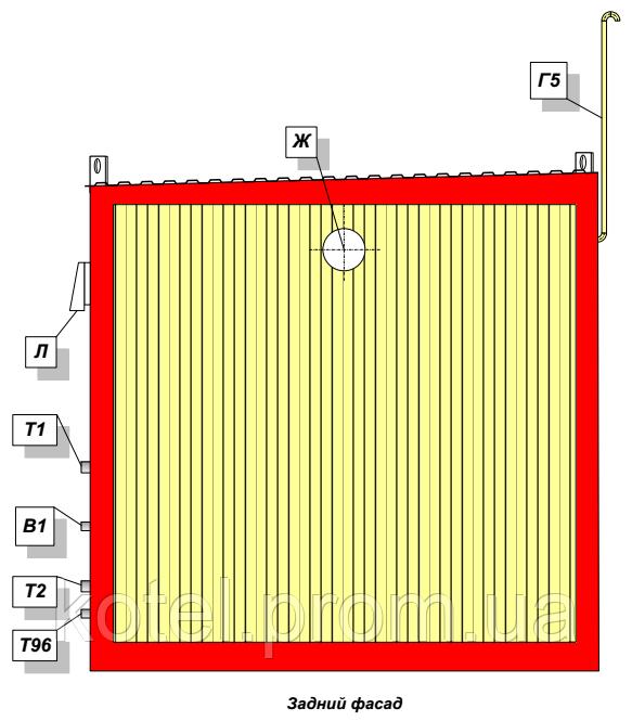 Задний фасад котельной КМ-2-200 КТН 1.100 СЕТ