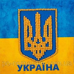 Набор для вышивки бисером магнита Волшебная страна Государственный герб (FLA010) 9 х 9 см