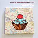 Набор для вышивки бисером магнита Волшебная страна Рождественские игрушки (FLA055) 9 х 9 см, фото 3