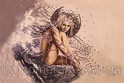 Картина бисером в рамке Волшебная страна Девушка ангел (FLF005) 20 х 30 см