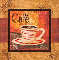 Частичная вышивка бисером Волшебная страна Чашечка кофе (FLF058) 30 х 30 см