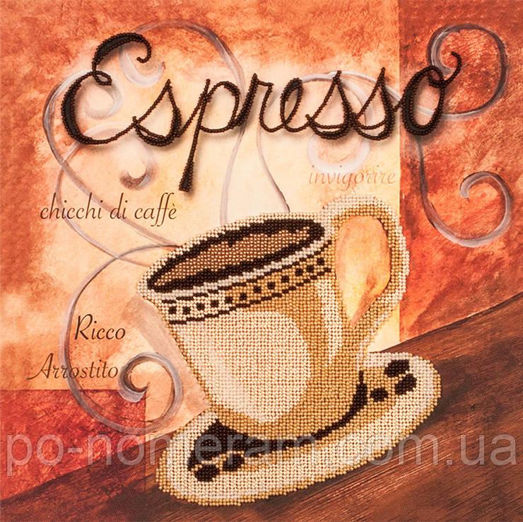 Частичная вышивка бисером Волшебная страна Чашечка эспрессо (FLF067) 30 х 30 см