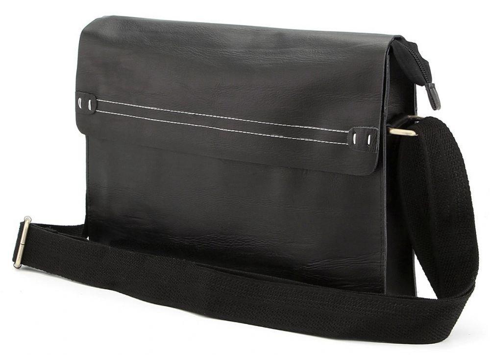Кожаная мужская сумка через плече Италия 24x32x7 см 165293
