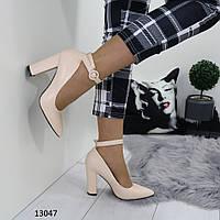 Туфли женские размеры 38,40 бежевые 13047, фото 1
