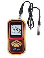 Толщиномер лакокрасочных покрытий BENETECH GM280F от 0 мкм до 1800 мкм Fe с выносным датчиком (PR0090)