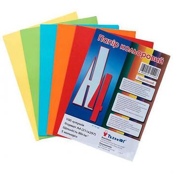 Бумага А4 Mini ассорти, насыщенная гамма,100 листов