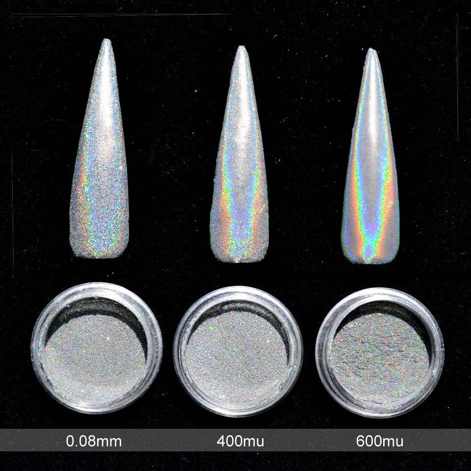 Голографическая пудра для ногтей Единорог 0,5г 0,08mm