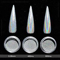 Голографическая пудра для ногтей Единорог 0,5г 0,08mm, фото 1