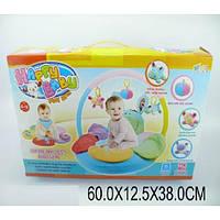 Коврик для малышей 2012AB (1070020)  с погремушками на дуге, в короб.60*12,5*38см