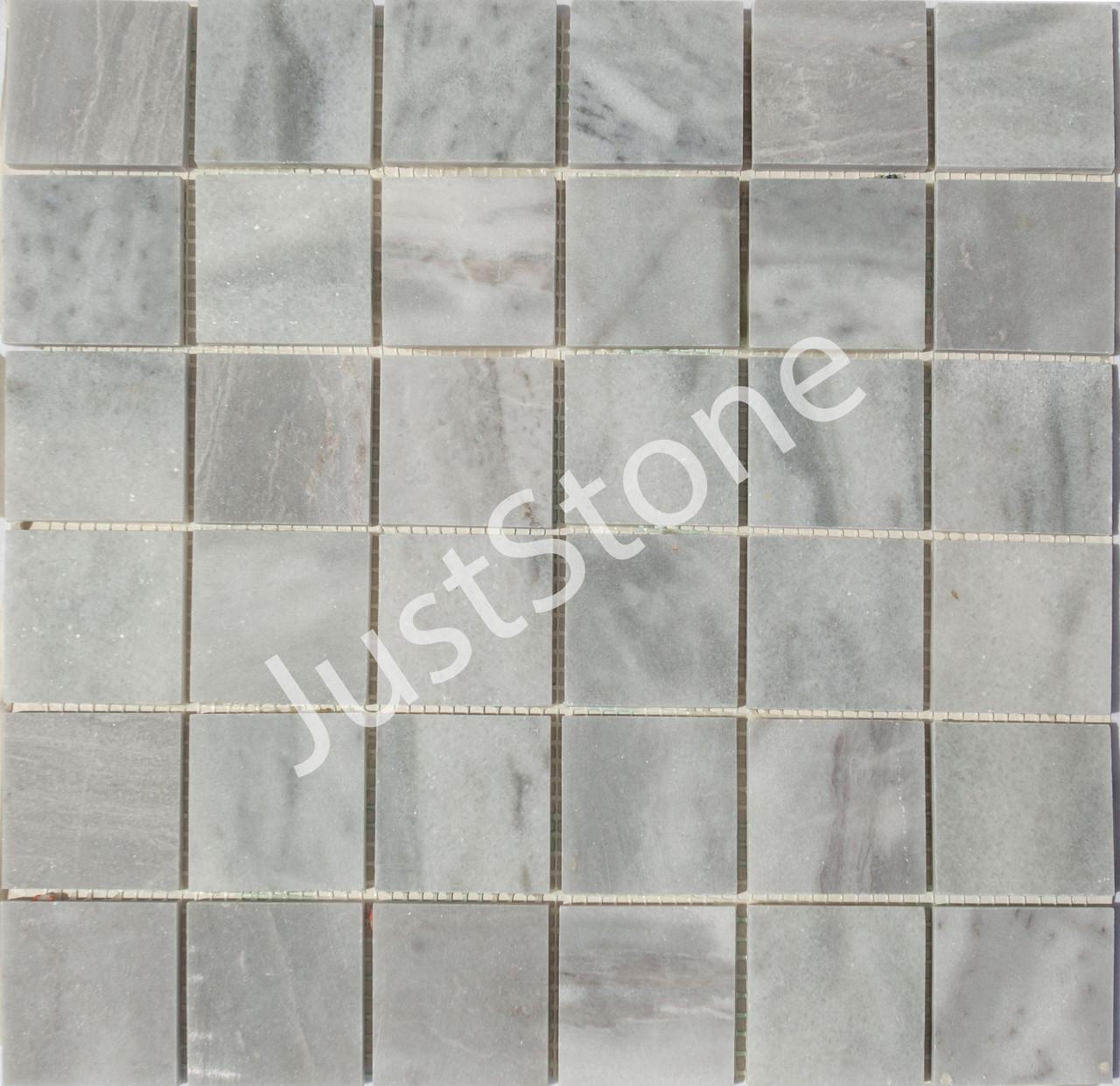 Мраморная Мозаичная плитка Полированная МКР-3П (47х47) 6 мм Grey Mix