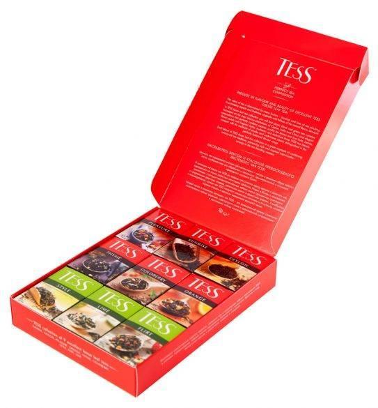 ЧайTess Loose tea Collection Набор ( 9 шт по 40 г) Ассорти
