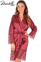 Шелковый халат с кружевом (Серый), фото 3