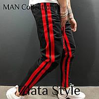 Мужские спортивные штаны чёрные, серые, меланж, фото 1