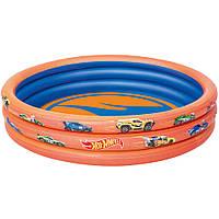 Детский надувной бассейн Hot Wheels Bestway 93403: размер 122х25см