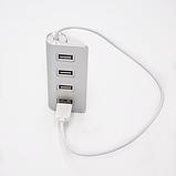 USB-хаб VOLRO 4 Ports Silver (vol-297), фото 2