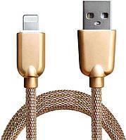 Кабель Grand-X USB to Lightning 1м Gold (2803069)