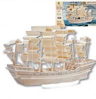 3D Деревянный конструктор. Модель Корабль Парусник