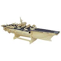 3D Деревянный конструктор. Модель корабль Авианосец