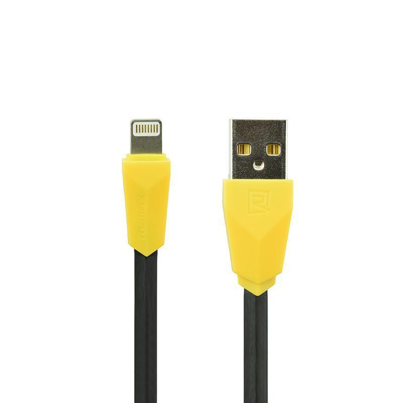 USB кабель Remax Aliens RC-30i iPhone 5/6 Black/Yellow 1m (5-067)