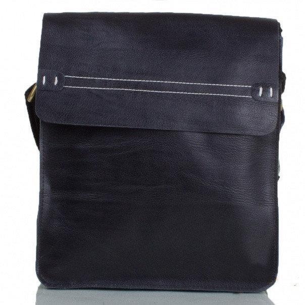 Кожаная мужская сумка Италия 26x24x6 см 165295