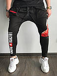 Мужские штаны черные брюки La Casa. Живое фото, фото 4