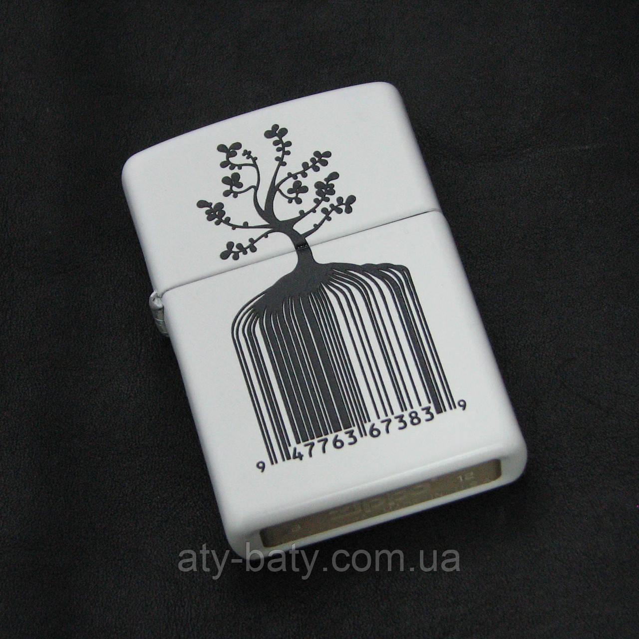 Зажигалка Zippo 28296 Identity Tree Barcode Lighter