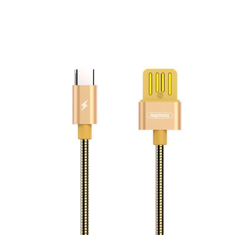 USB кабель Remax Silver Serpent RC-080a Type-C Gold 1m