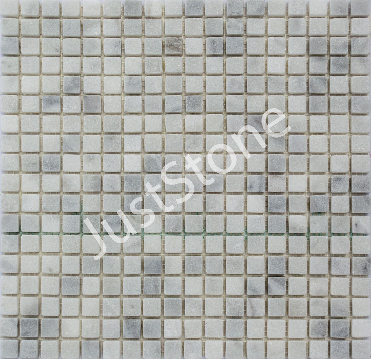 Мраморная Мозаика Стар.Валт. МКР-4СВ (15х15) 6 мм White Mix