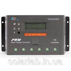 EPsolar(EPEVER) Контроллер, ШИМ 30А 12/24В  с дисплеем, (VS3024BN), EPsolar(EPEVER)