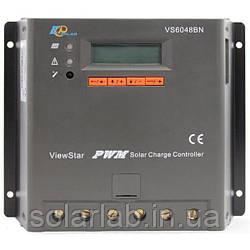 EPsolar(EPEVER) Контроллер, ШИМ 60А 12/24/36/48В  с дисплеем, (VS6048BN), EPsolar(EPEVER)