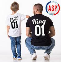 Футболки для всей семьи Family Look Фэмили лук футболки для мамы папы и детей отца и сына