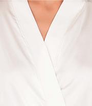 Шелковый халат с кружевом Martelle Lingerie (Молочный), фото 2