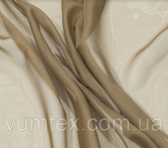 Тюль вуаль (шифон), цвет корица