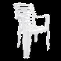 Кресло пластиковое для дачи  Рекс Белый